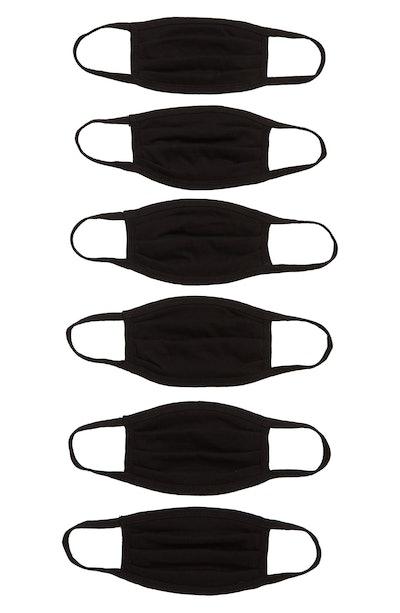 6-Pack Kids' Cotton Knit Face Masks