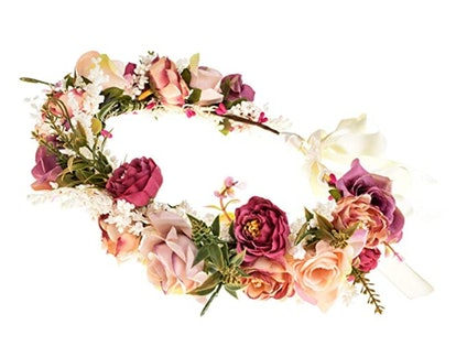 Eralove Women Rose Flower Headband Floral Crown Garland Halo