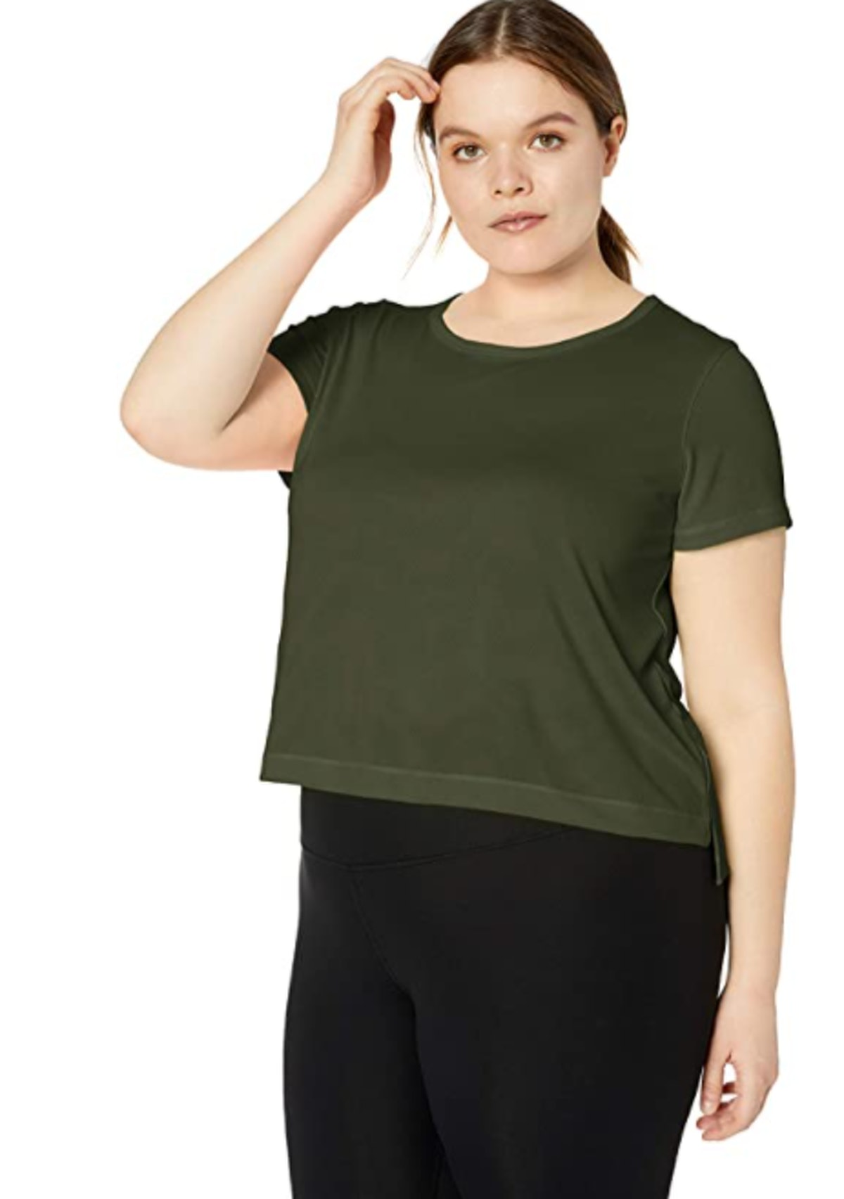 Core 10 Women's Jacquard Mesh Cropped T-Shirt
