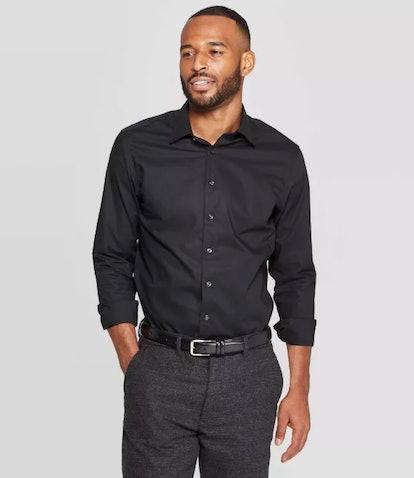 Goodfellow & Co Men's Standard Fit Long Sleeve Dress Button-Down Shirt