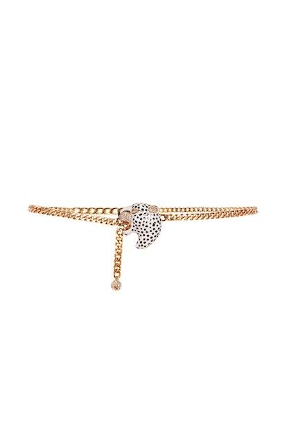 Le Jaguar Embellished Gold-Tone Chain Belt