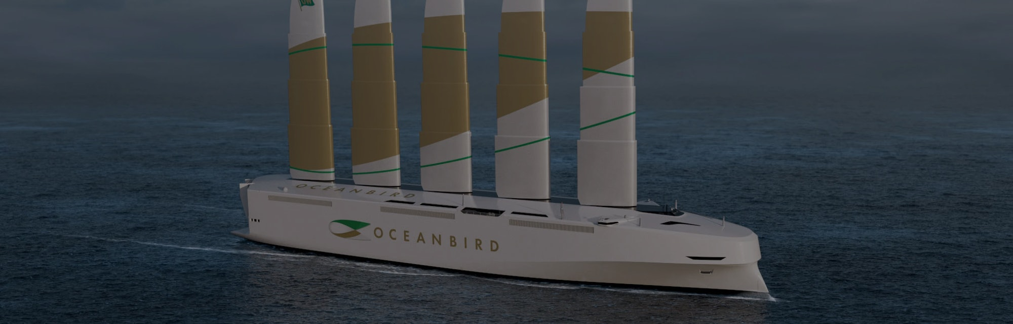 The Oceanbird is a cargo ship powered by wing sails.
