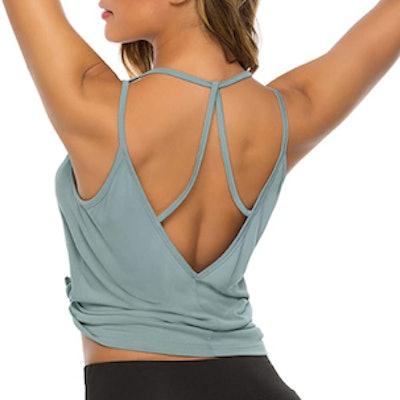 DIBAOLONG Open Back Yoga Tank