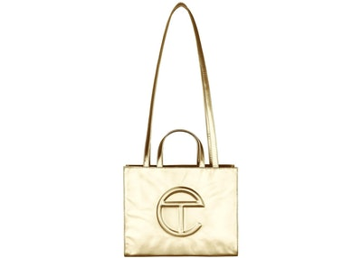 Shopping Bag in Gold