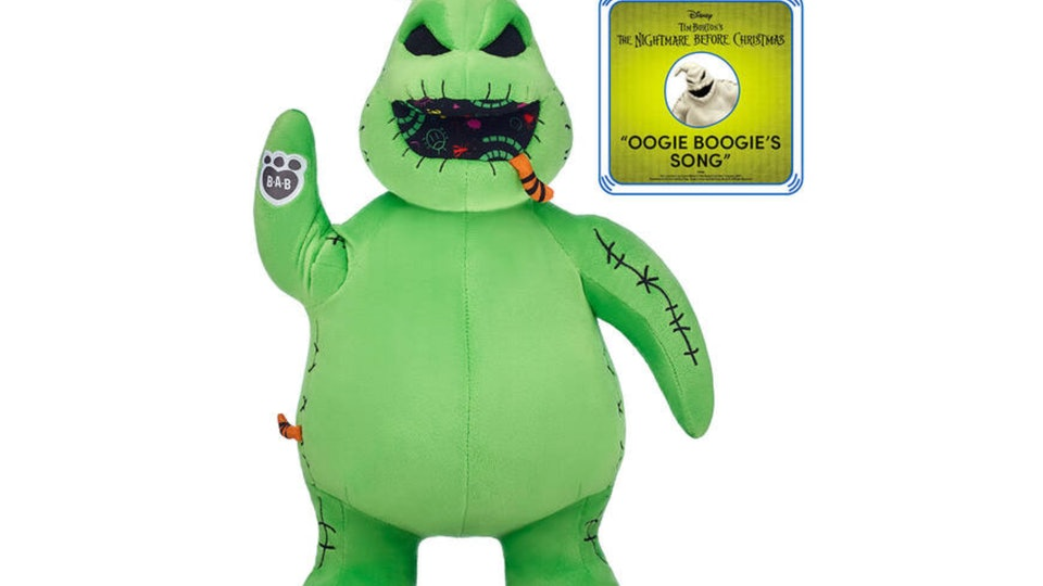 The Oogie Boogie bear is available exclusively online on the Build-A-Bear website.