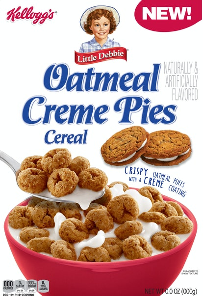 Kellogg's Little Debbie Oatmeal Creme Pie Cereal will hit store shelves this December.