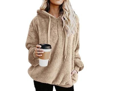 ReachMe Womens Sherpa Fleece Sweatshirt