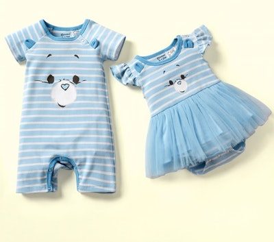 "Care Bears ""I'm Not Grumpy"" Bear Face Cotton Sibling Tutu and One Piece"