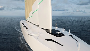 The Oceanbird is a cargo ship powered by wind sails.