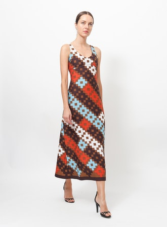 Lanvin '70s Geometric Dress