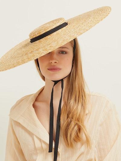 Jacquemus Beige Straw 'Le Chapeau Santon' Hat