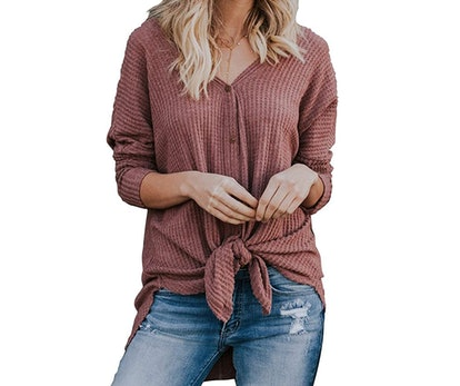 MIHOLL Womens Loose Blouse