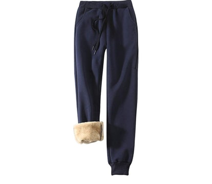 Yeokou Women's Sherpa Lined Athletic Sweatpants