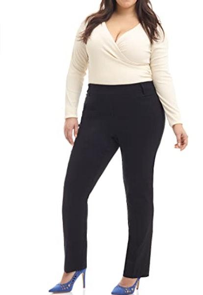 Rekucci Curvy Woman Straight Pants