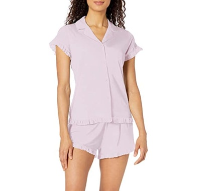 Mae Women's Notch Collar Pajama Set