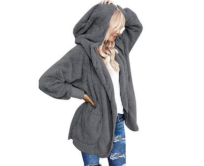 LookbookStore Women's Oversized Hooded Cardigan