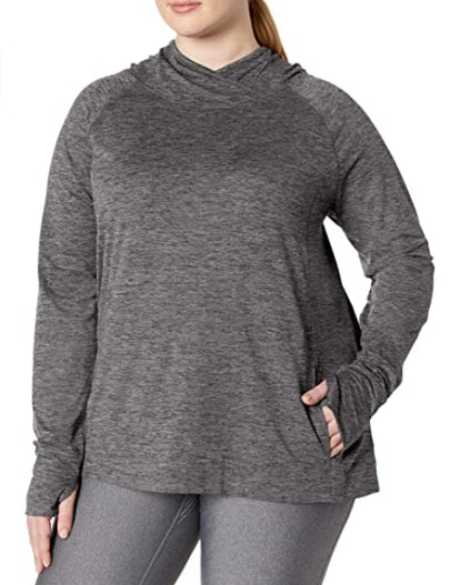 Amazon Essentials Brushed Tech Stretch Popover Hoodie