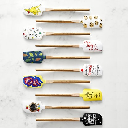 Lineup of 10 celebrity-designed spatulas for Williams Sonoma No Kid Hungry collection