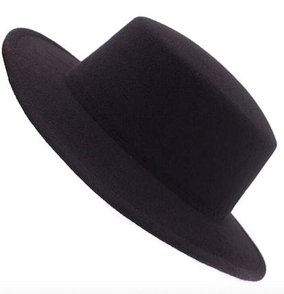 ASTRQLE Fashion Classic Black Wool Blend Fedora Hat