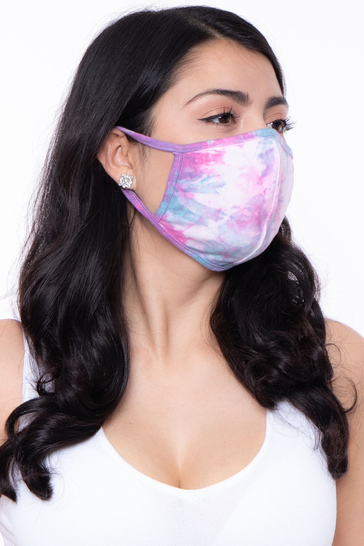 Curvy Sense Washable & Reusable Hand Tie-Dyed Face Mask