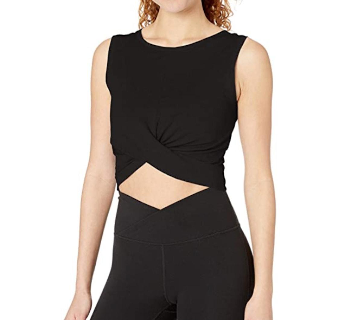 Amazon Brand - Core 10 Women's Cotton Blend Cropped Tank