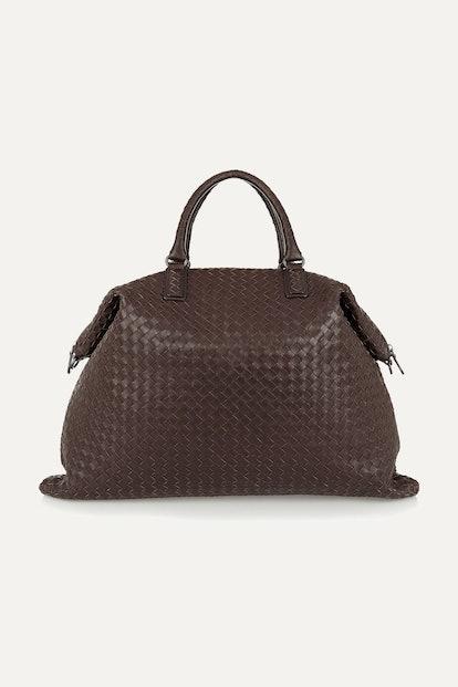 Convertible Intrecciato Leather Tote