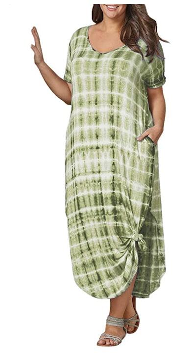 Tongmingyun Plus Size Maxi Dress