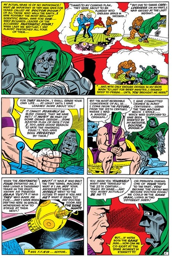 Kang the Conquerer Doctor Doom Fantastic Four