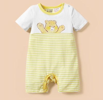 "Care Bears ""Fun In The Sun"" Funshine Bear Striped Cotton One Piece"