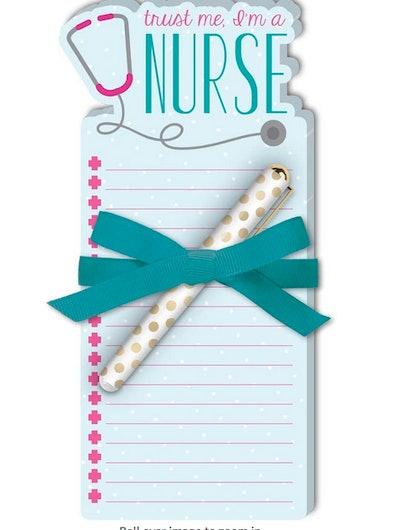 Lady Jayne Nurse Stethoscope Die-Cut Note Pad with Pen
