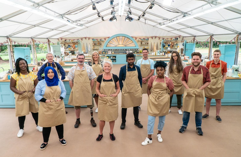 Great British Bake Off Contestants in the tent
