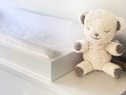 The SNOObear is basically a SNOO bassinet in stuffed animal form.