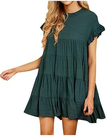 AIEason Loose Mini Dress