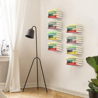 the STORAGE MANIAC Store Invisible Floating Bookshelves (4-Pack)