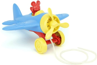 Green Toys Disney Baby Exclusive - Mickey Mouse Airplane Pull Toy
