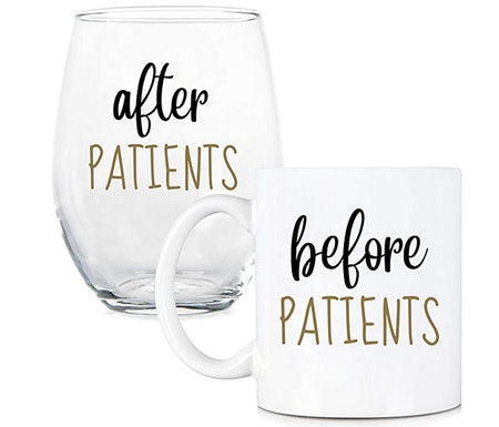 Before Patients, After Patients Coffee Mug & Stemless Wine Glass Set