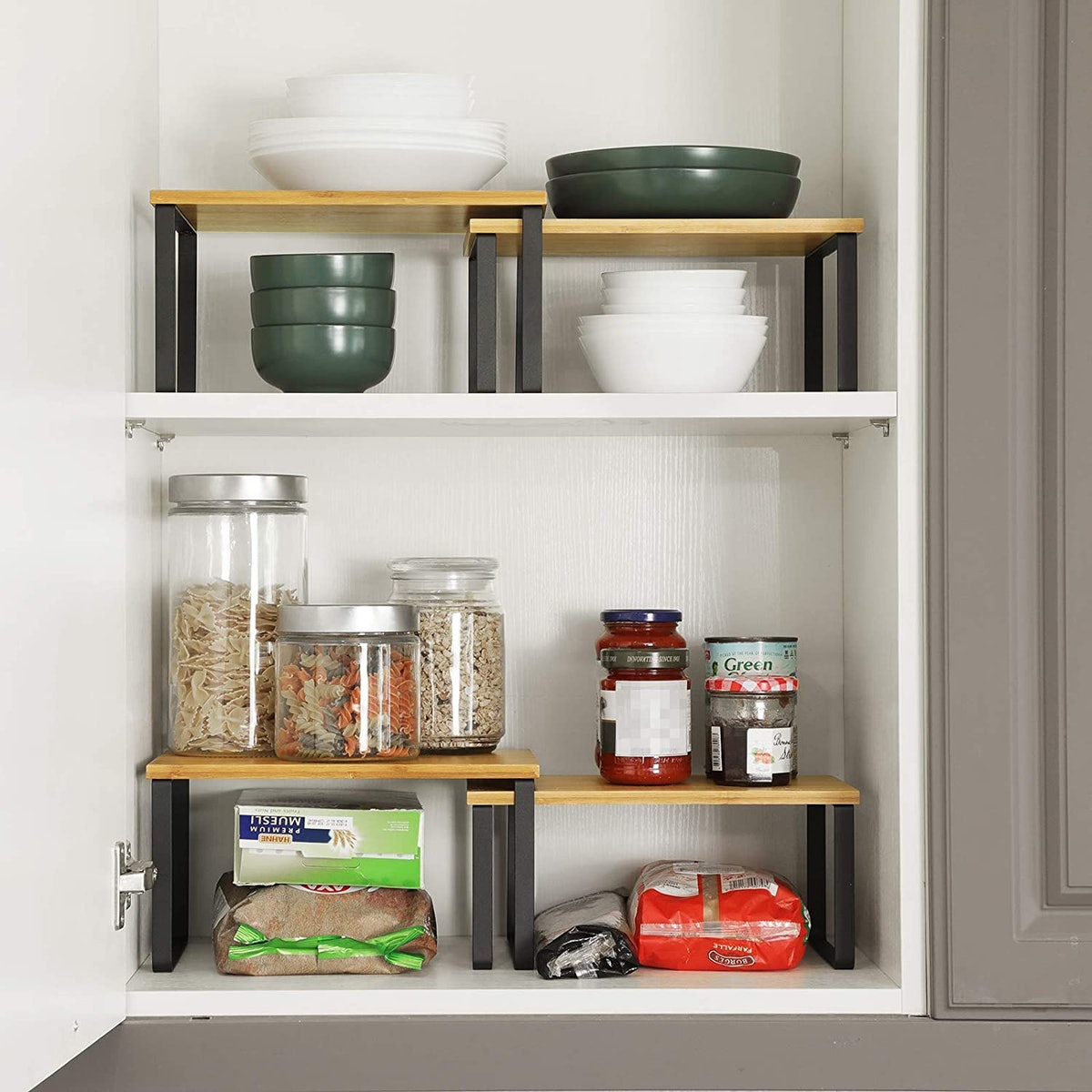 SONGMICS Cabinet Shelf Organizers (4-Pack)