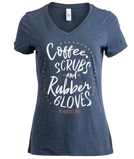 Coffee, Scrubs, and Rubber Gloves Shirt