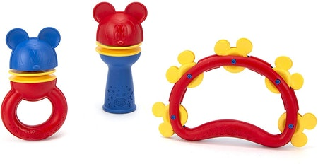 Green Toys Disney Baby Exclusive - Mickey Mouse Shake & Rattle Set
