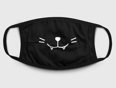 Vampire Cat Fashion Face Mask