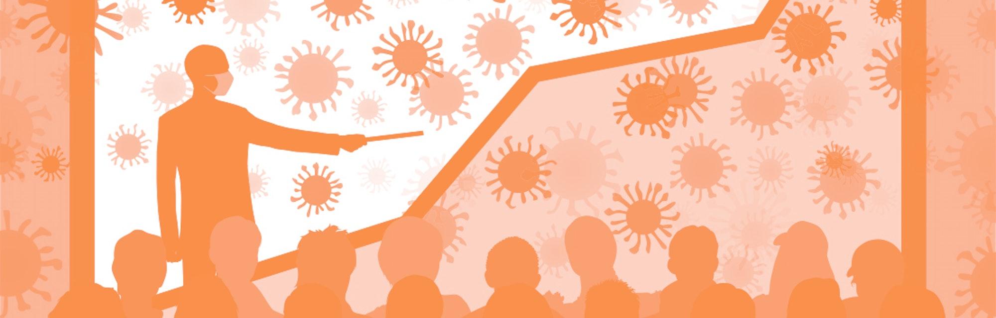 Coronavirus and graph.