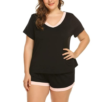 IN'VOLAND Plus Size Pajama Set