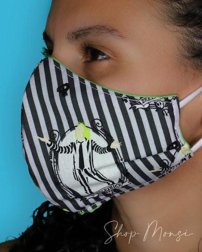 It's Showtime! - Halloween Tim Burton Fabric Face Mask