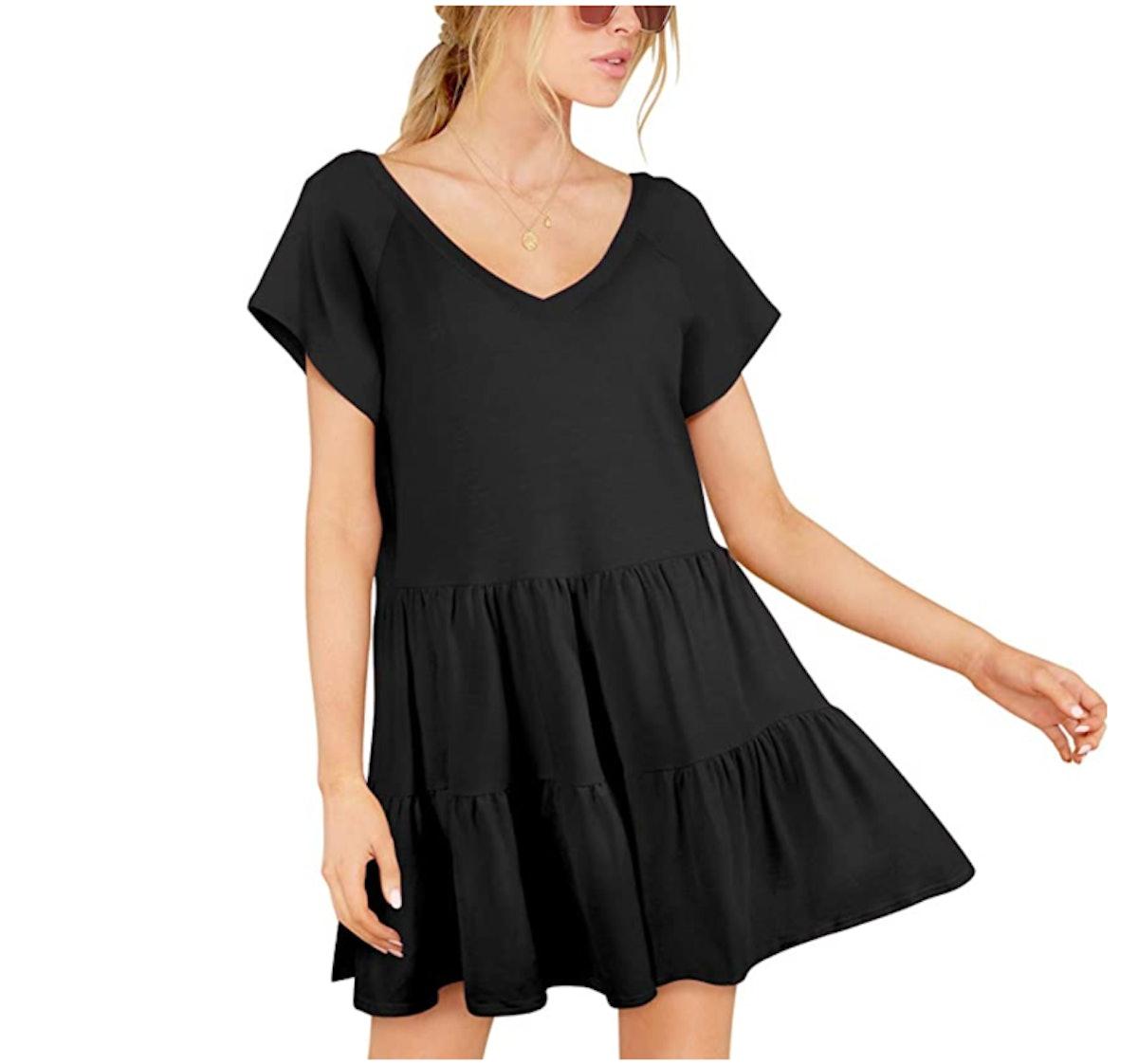 BELONGSCI Flowy V-Neck Mini Dress