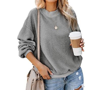 Ecrocoo Womens Crewneck Sweatshirt