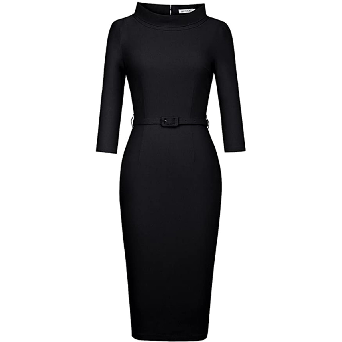 MUXXN 3/4 Sleeve Collared Dress