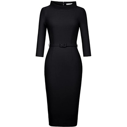 MUXXN 3/4 Sleeve Collared Dress