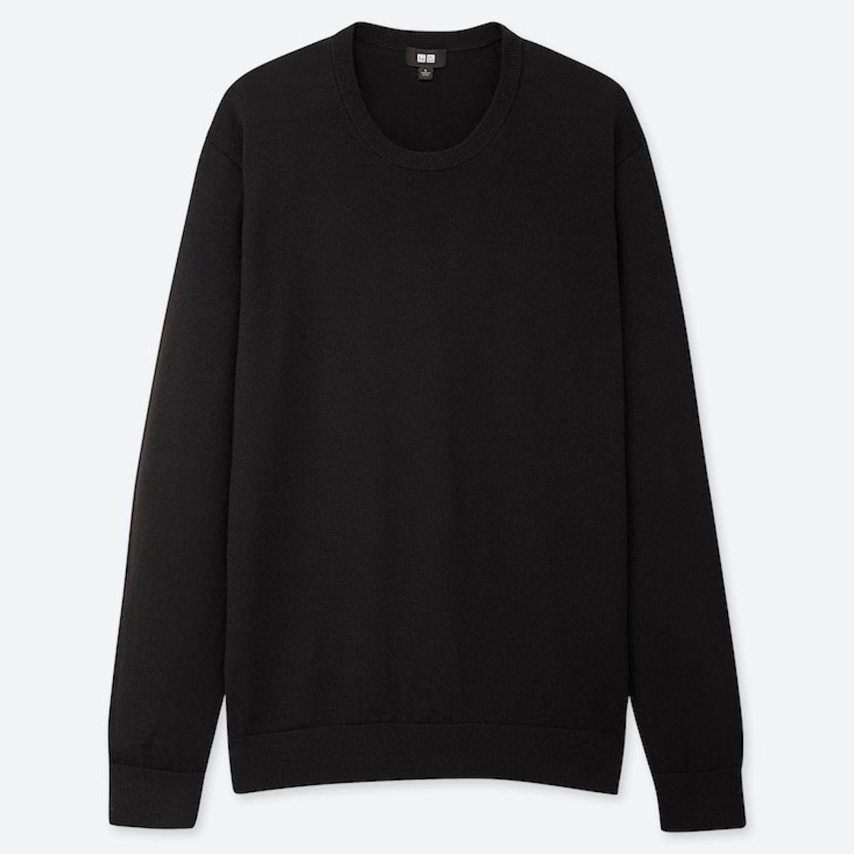 Men's Extra Fine Merino Crew Neck Long-Sleeve Sweater