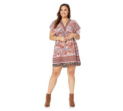 Angie Plus Size Kimono Dress