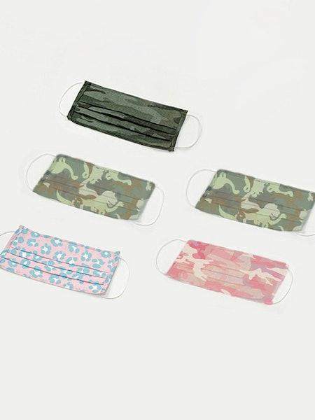 5 Pack Fashion PPE Masks